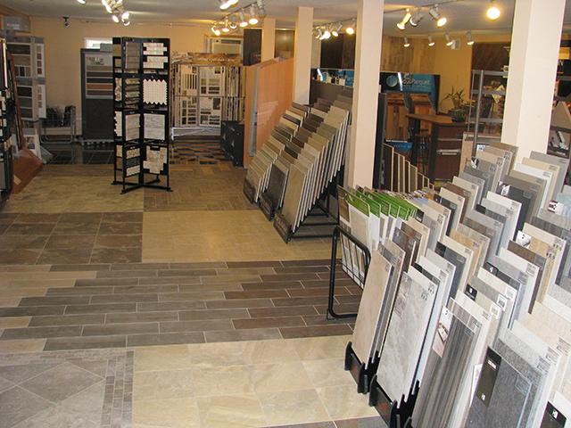 The showroom of Sobaski Abbey Carpet & Floor.