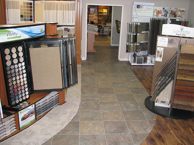 The showroom of Sobaski Abbey Carpet & Floor.